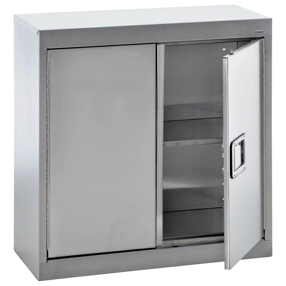 D Stainless Steel Wall Storage Cabinet Sa1d301230 The Home Depot