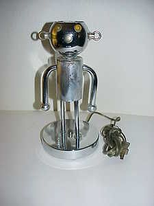 Rare Vintage Original Baby Robot Lamp By Torino Of Italy Nr Robot Lamp Chrome Lamp Lamp