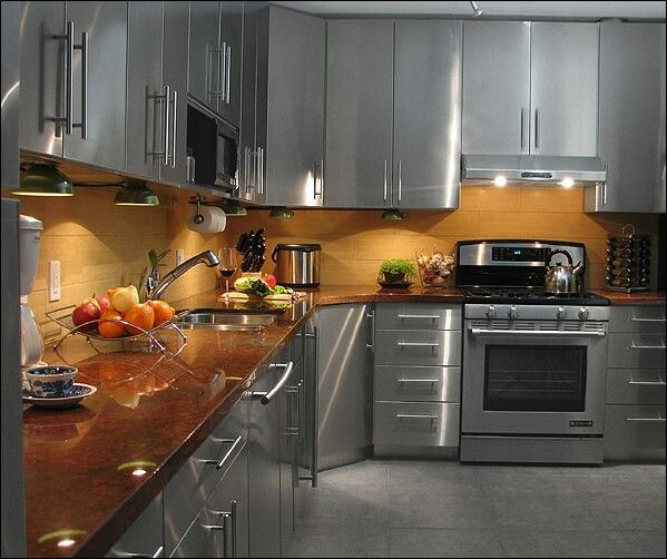 Stainless Steel Kitchen Cabinets Stainless Steel Kitchen Cabinets Steel Kitchen Cabinets Kitchen Design