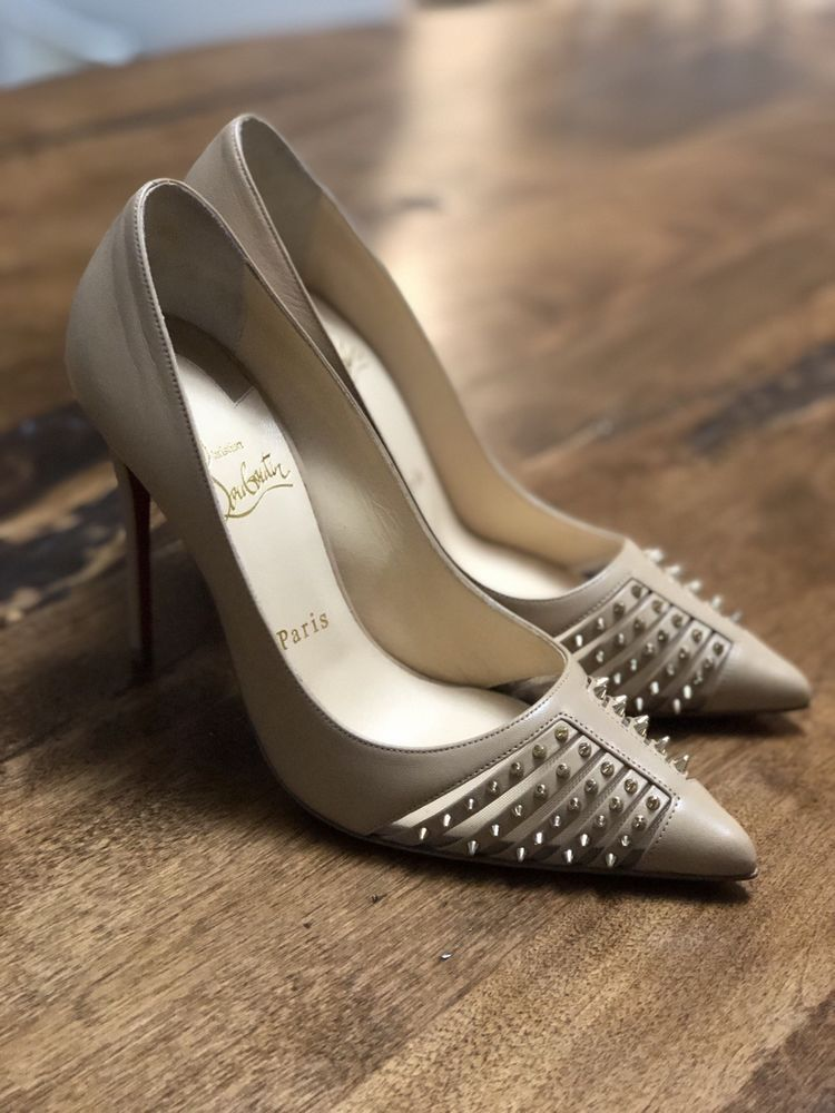 e53428e7ad6 Christian Louboutin 37 Bareta 100 Nude  fashion  clothing  shoes   accessories  womensshoes  heels (ebay link)