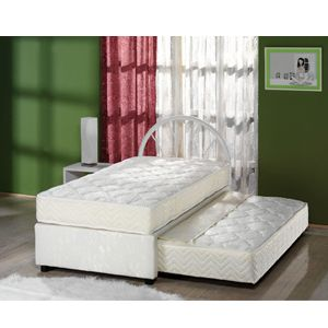 Trundle Bed With High Riser Mattress And Cover Is Fire Retardant