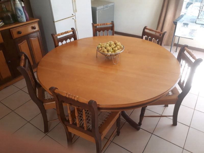 Imbuia And Yellow Wood Dining Table Set Dining Table Dining
