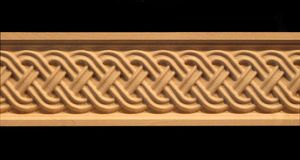 decorative wood carved celtic double weave