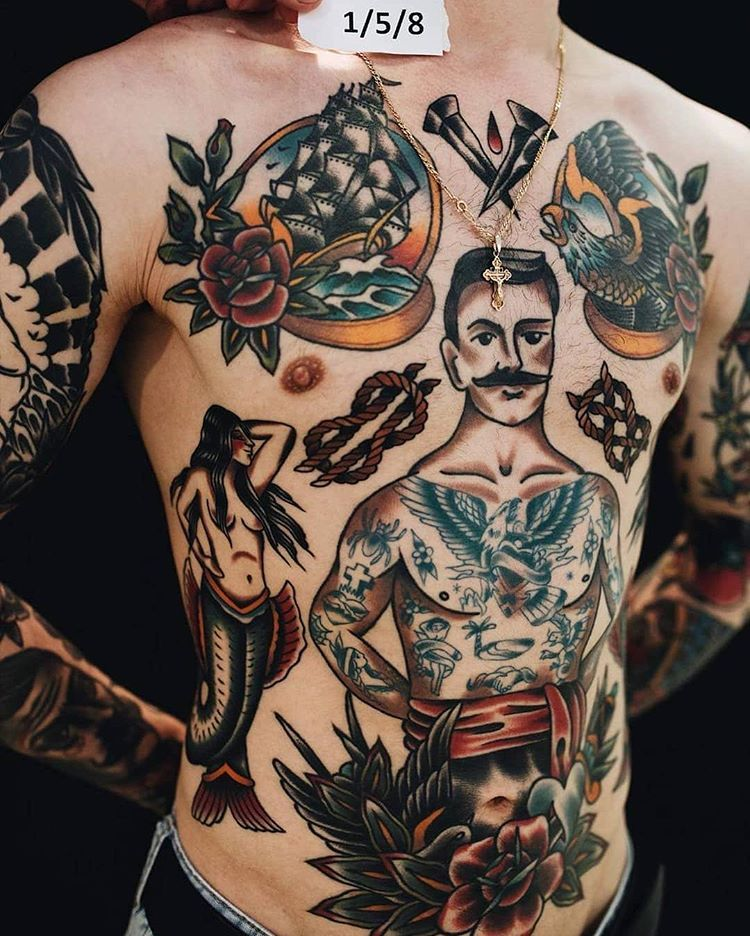 Pin By Christian Clark On Tattoos Chest Tattoo Men Cool Chest Tattoos Chest Tattoo