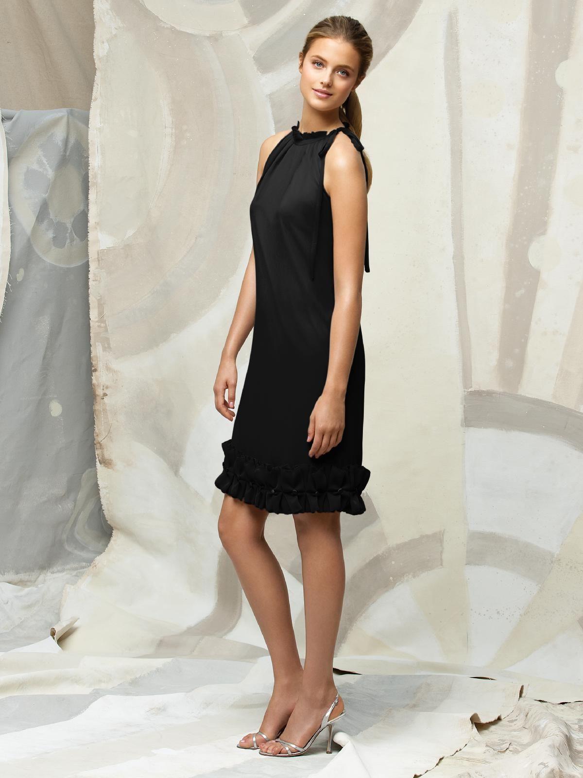 Lela rose black bridesmaid dress that black dress pinterest