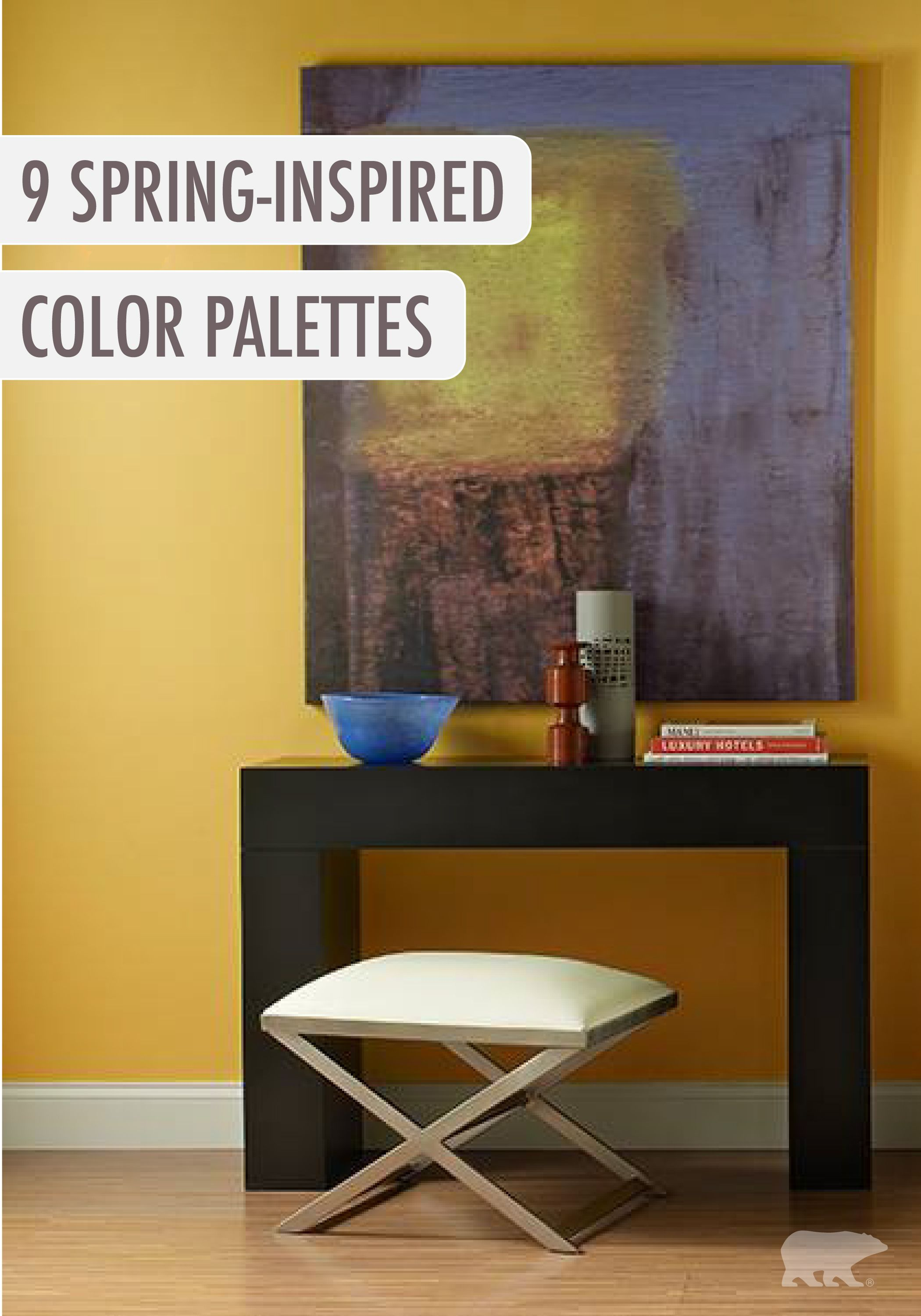 BEHR paint in Smiley Face yellow makes the perfect backdrop to your