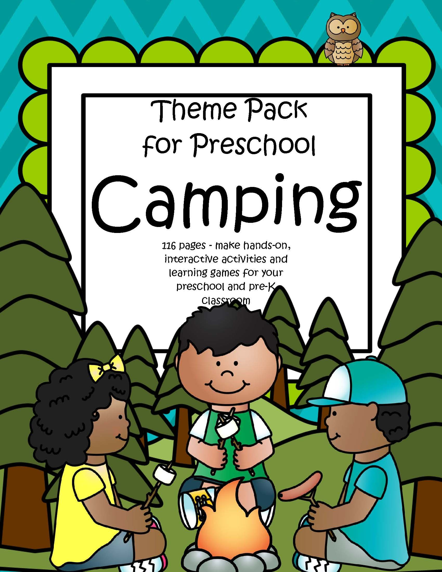 Camping Centers And Activities Pack For Preschool