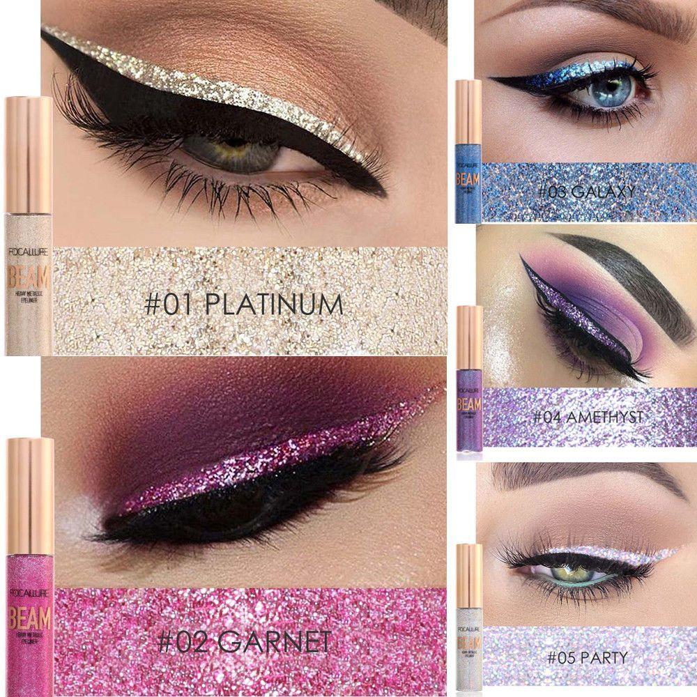 Hot Sale Cmaadu 4 Coloful Glitter Eyeshadow Makeup Powder Palette Women Smoky Eyes Metallic Shimmer Eye Shadow Green Blue Purple Cosmetic Beauty Essentials Beauty & Health