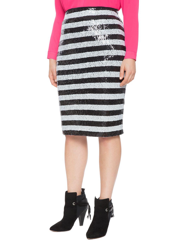 36921827df2 Printed Sequin Pencil Skirt