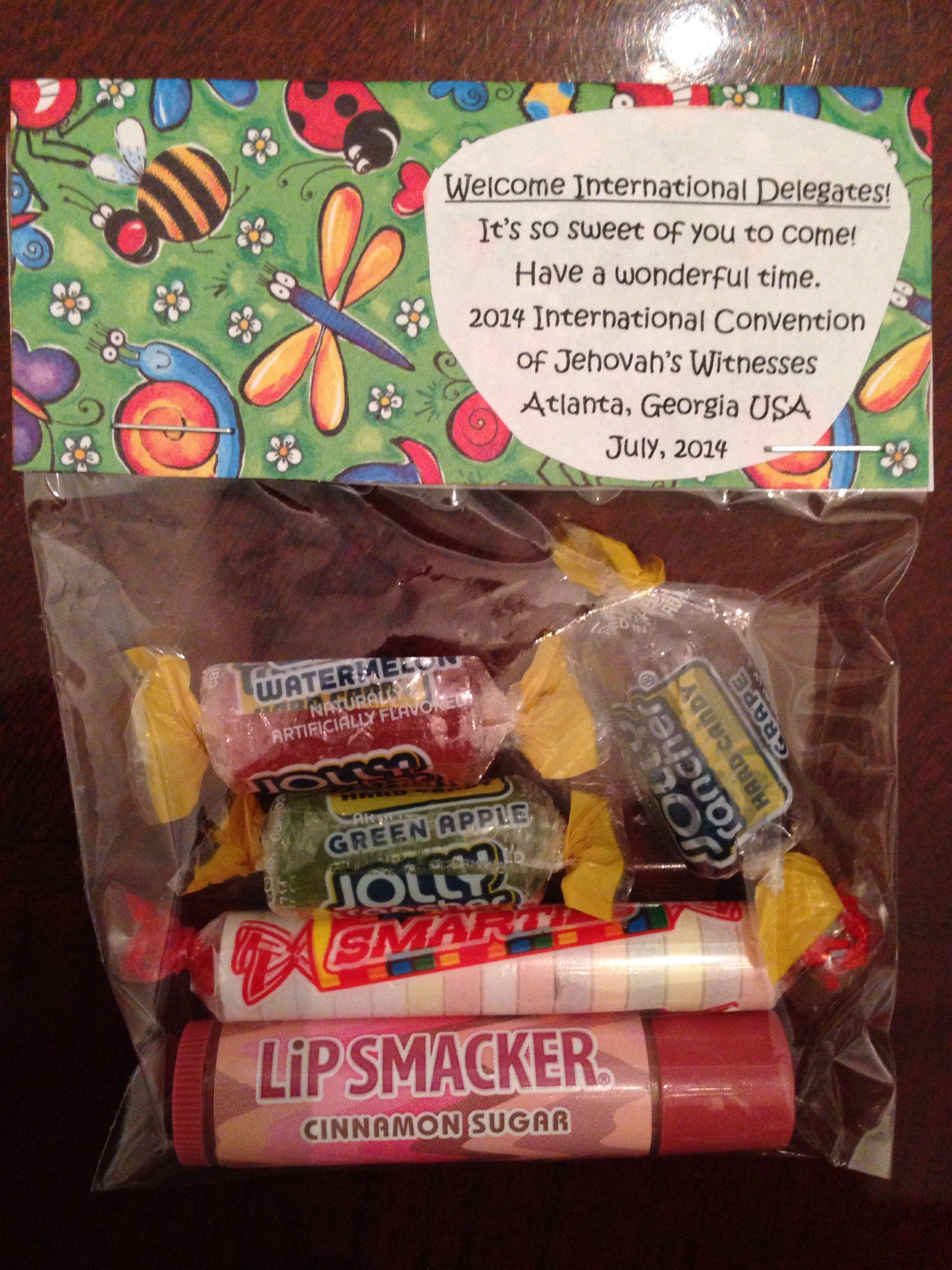 Treat bag I made tonight | International gift ideas | Jw