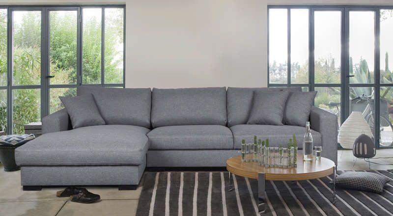 Canapé d angle gauche fixe 5 places WINSON coloris gris prix promo Canapé  Conforama 798.00 € 97fec0a3532f