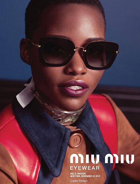 e0e3f1414eb0 Lupita Nyong o Gets Shady for Miu Miu s Latest Eyewear Campaign  InStyle