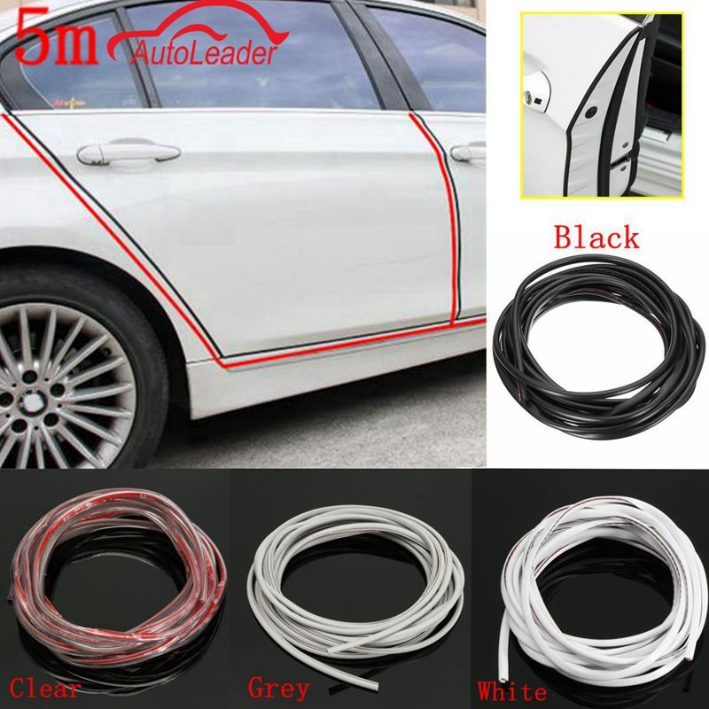 Color : Black 5M Car Door Edge Guard Anti-Scratch Molding Trim Rubber Seal Protector Guard Strip