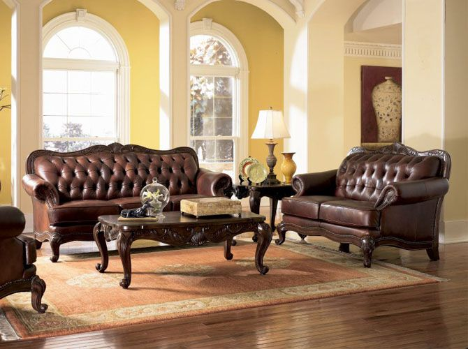 brown leather sofa sets. Perfect Sets Wildon Home  Valencia Leather Living Room Set On Brown Sofa Sets H