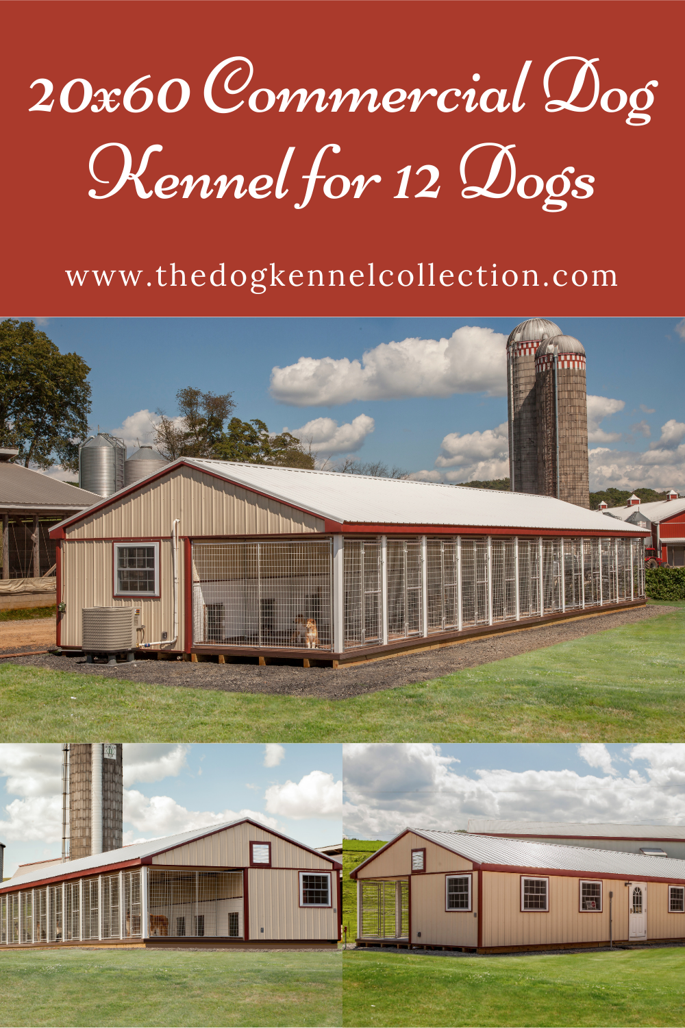 20x60 Commercial Dog Kennel For 12 Dogs In 2020 Dog Kennel Kennel Stainless Steel Channel