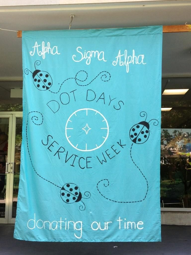 Zeta Eta Chapter, Rockhurst University, created this GREAT banner and hung it in the student center during the week of D.O.T. Days. We'd love to see this at all chapters for future D.O.T. Days!