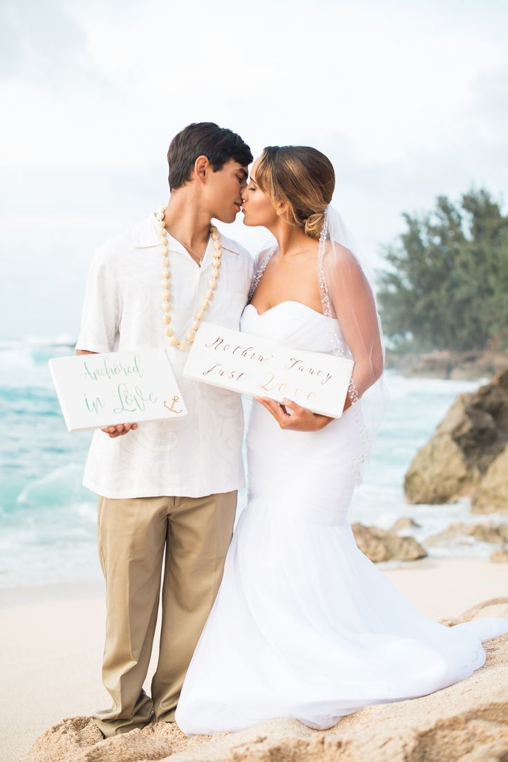 Romantic elopement in hawaii the perfect wedding dress fiancé