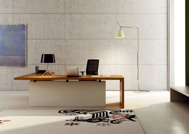 Bureau à domicile moderne aménagement et décoration