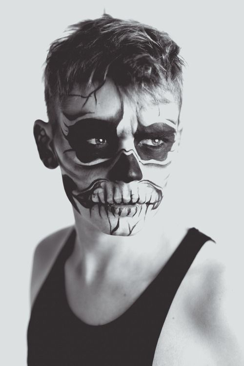 Halloween Make-Up Inspiration Maquillage artistiquement - maquillaje para halloween para hombre