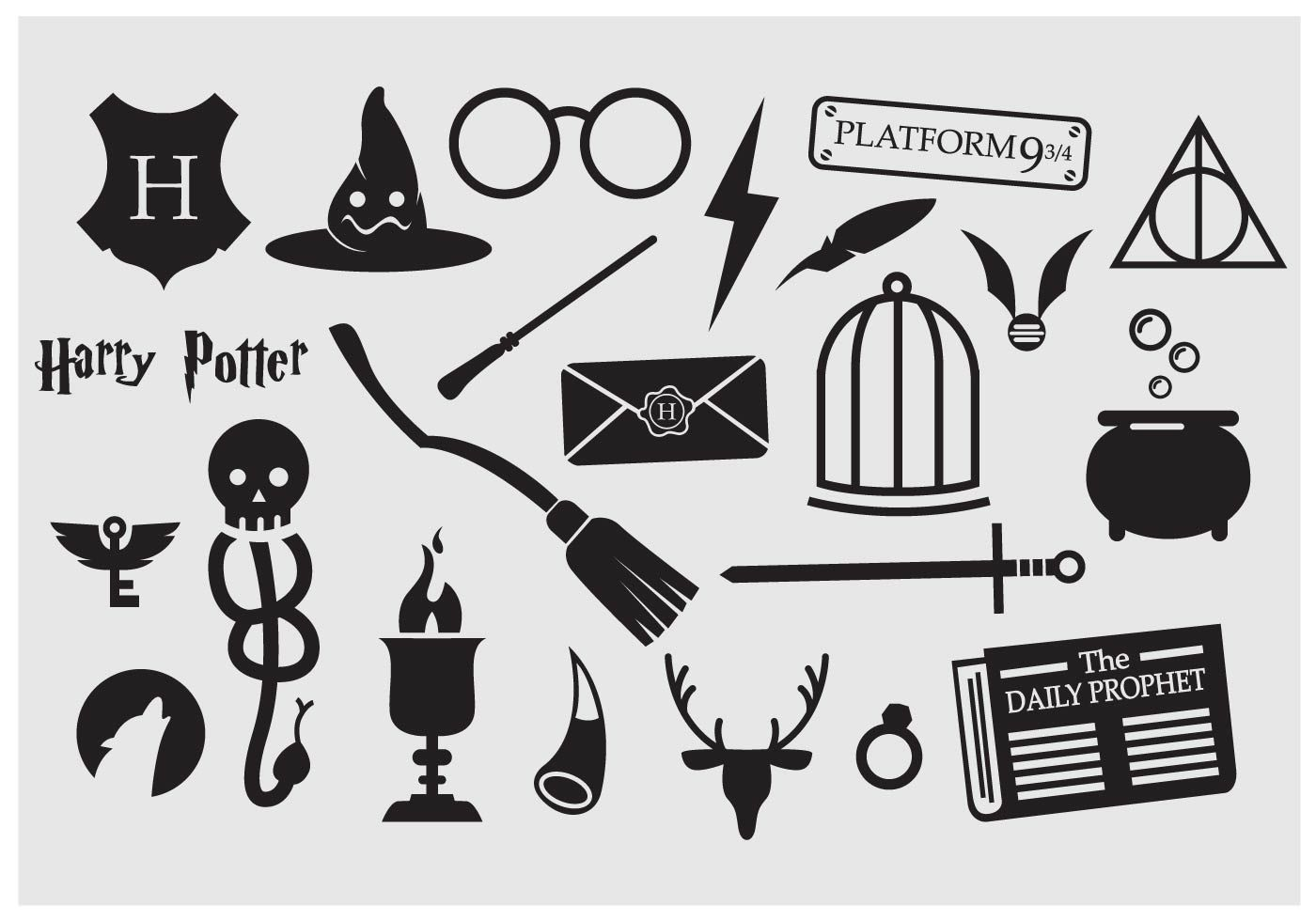Harry Potter Icon Vector Now Available On 23 Magical Illustration