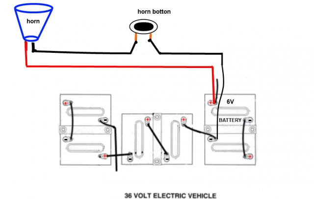 Wiring 12 Volt Horn To 36v System