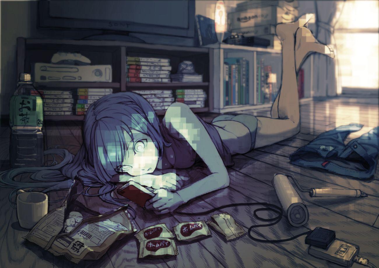 Anime room; 部屋のアニメ。 ♡
