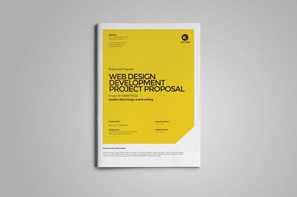 Web Design Proposal By Fahmie On Creative Market  Creative