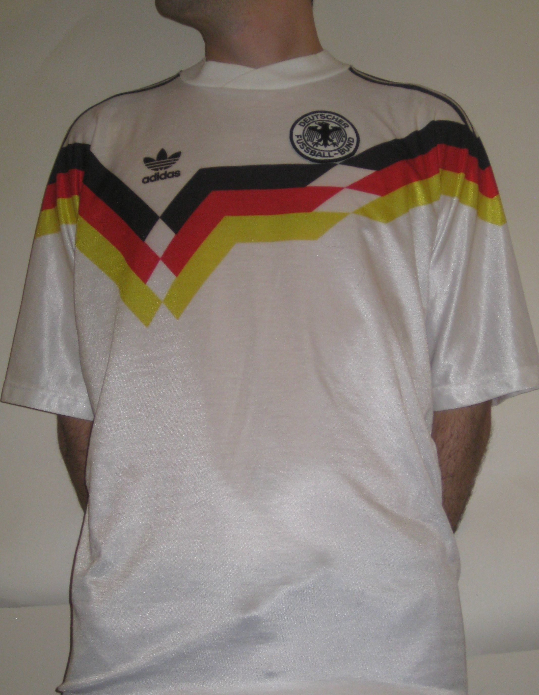 West Germany 1988 1990 This Is The One That Started It All Bought In Italy During The 1990 World Cup Jersey Worn By The E Mens Tops Jersey Mens Polo Shirts
