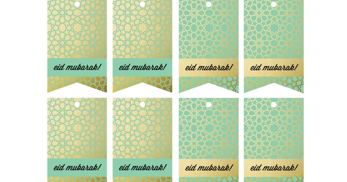 Gift Tags By Ims Pdf Eid Mubarak Decoration Eid Cards Gift Tags
