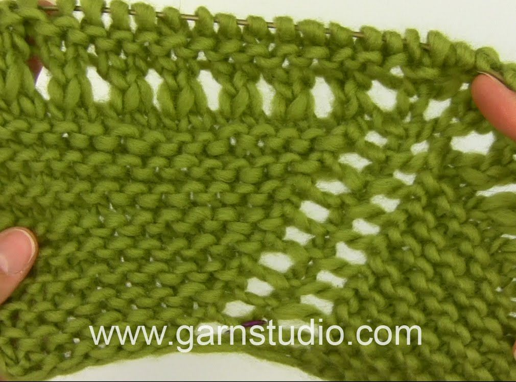 DROPS Knitting Tutorial: How to work the pattern for the shawl in DROPS ...