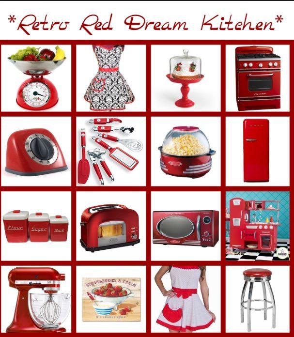 Retro Red Kitchen Red Kitchen Retro Kitchen Accessories Retro