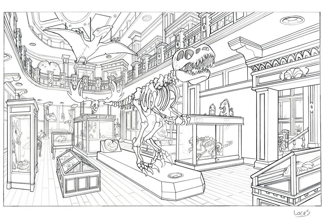 Museum by legrosclown on deviantART Adult coloring pages