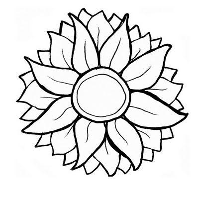 Free Sunflower Svg Sunflower Stencil Sunflower Template Free Cricut Images