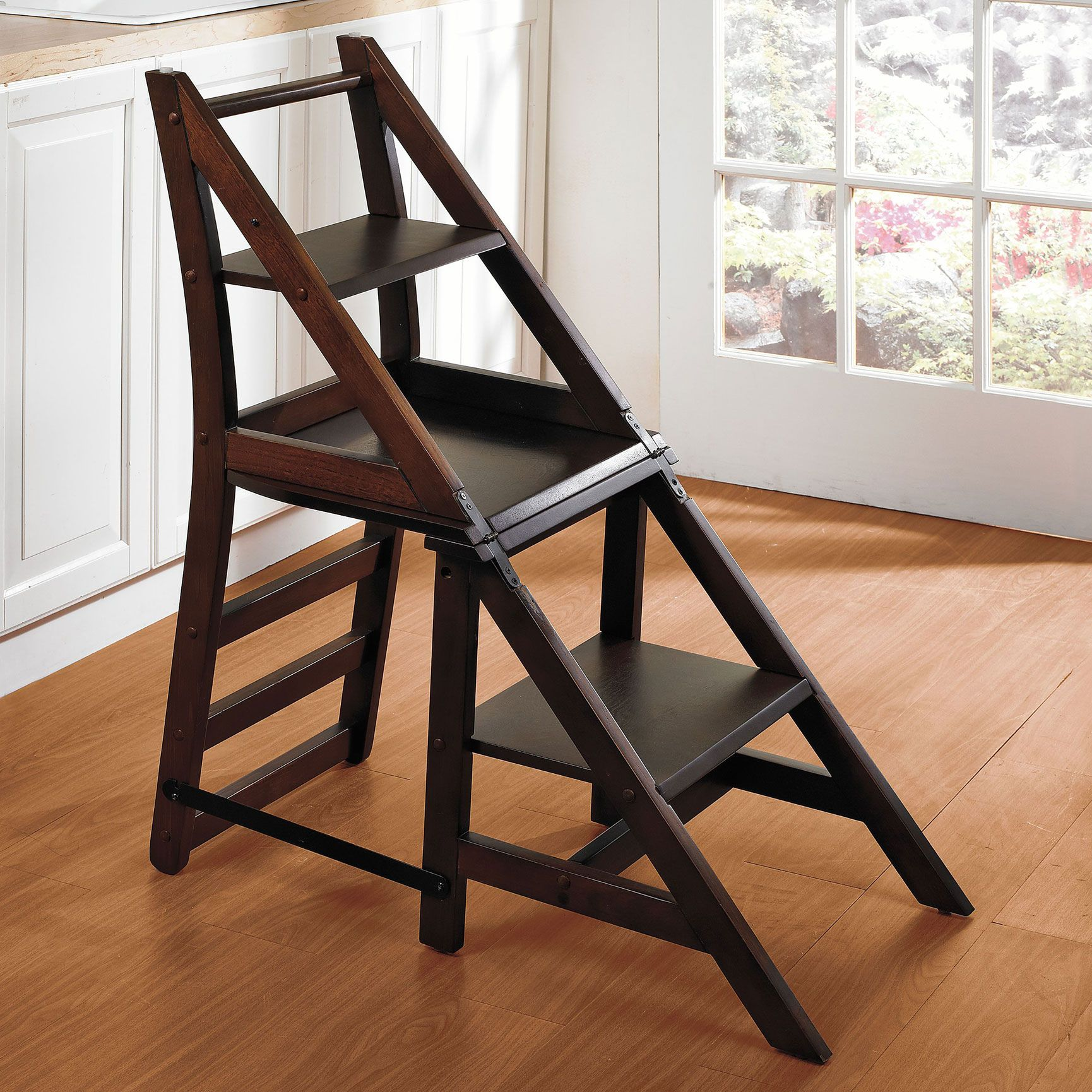 2 In 1 Step Ladder Chair Step Stools Brylanehome Home