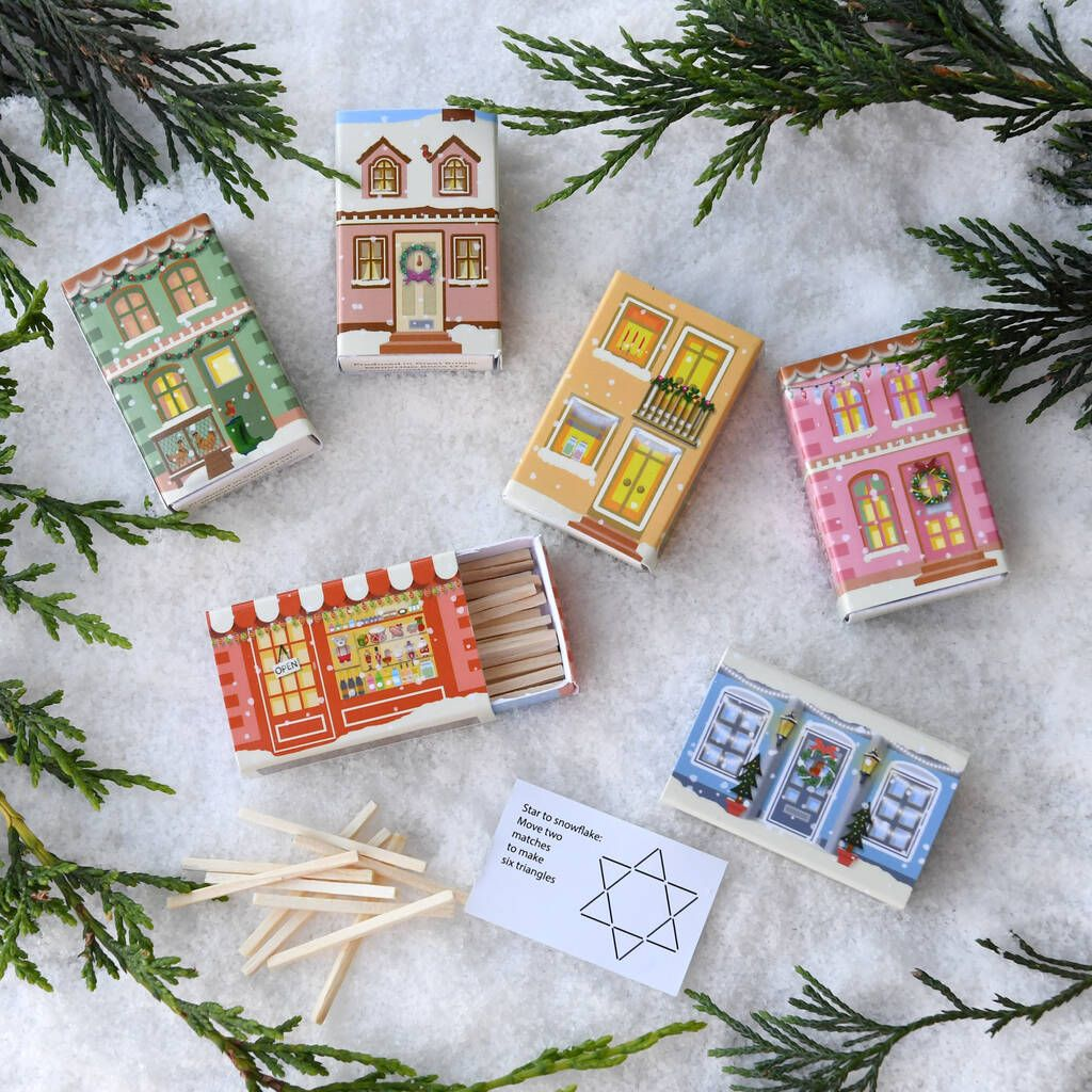 Matchstick Puzzles Alternative Christmas Cracker Set in