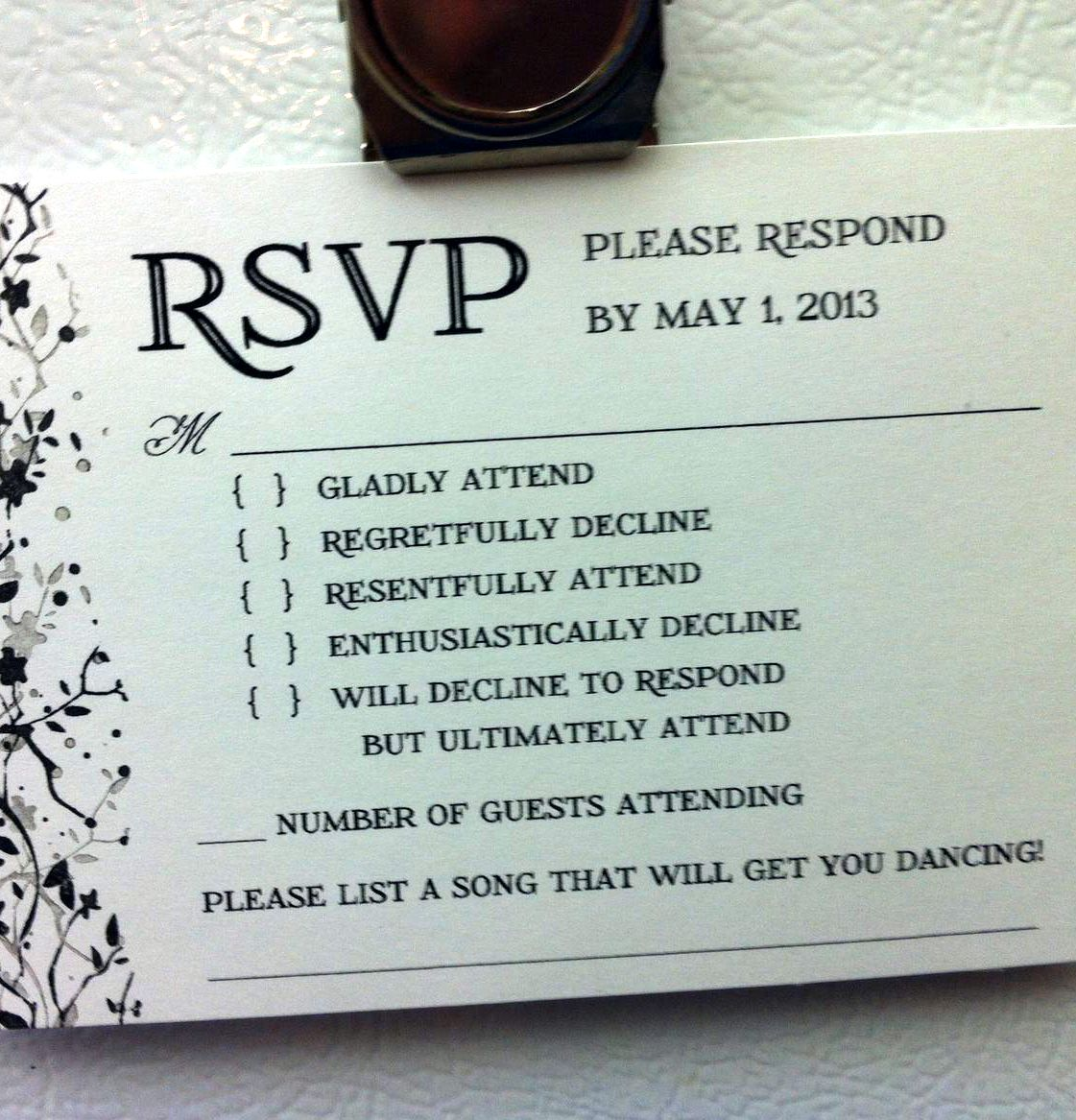 funny wedding invitations | The brutal honesty of it is probably why ...