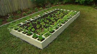 Concrete Block Raised Bed Gardening on Pinterest