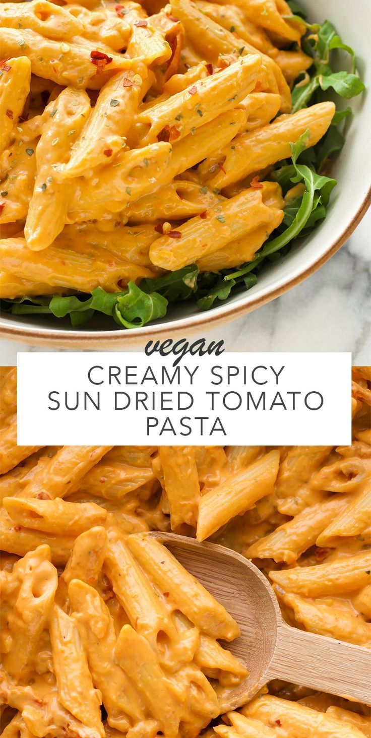 Photo of Creamy Spicy Sun Dried Tomato Pasta – Amy Le Creations #vegan – Urlaub101