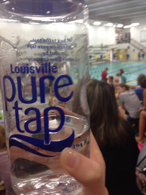 Spotted...pure tap at this morning's Jefferson County Public Schools swim meet.