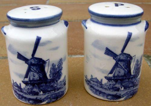 Salz-Pfefferstreuer-Porzellan-Delfter-Blau