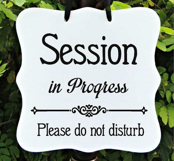 Session In Progress Sign Office Business Door Sign Client - In session door hanger template