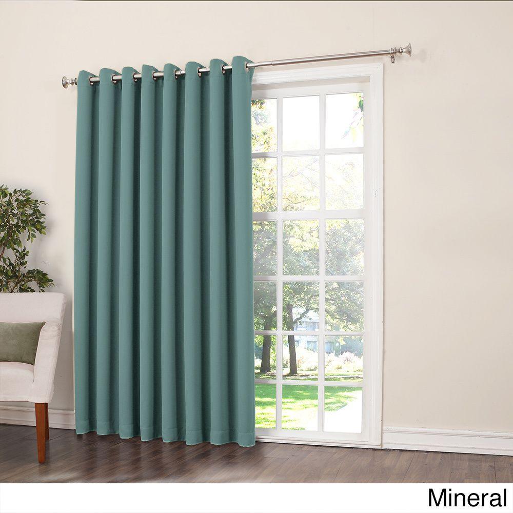 Sun zero galia rod pocket room darkening patio door single curtain
