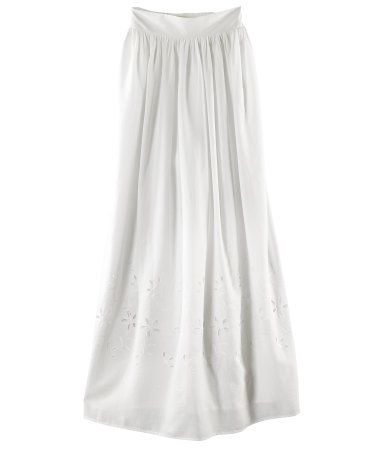 love this white eyelet skirt