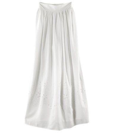 love this white eyelet skirt