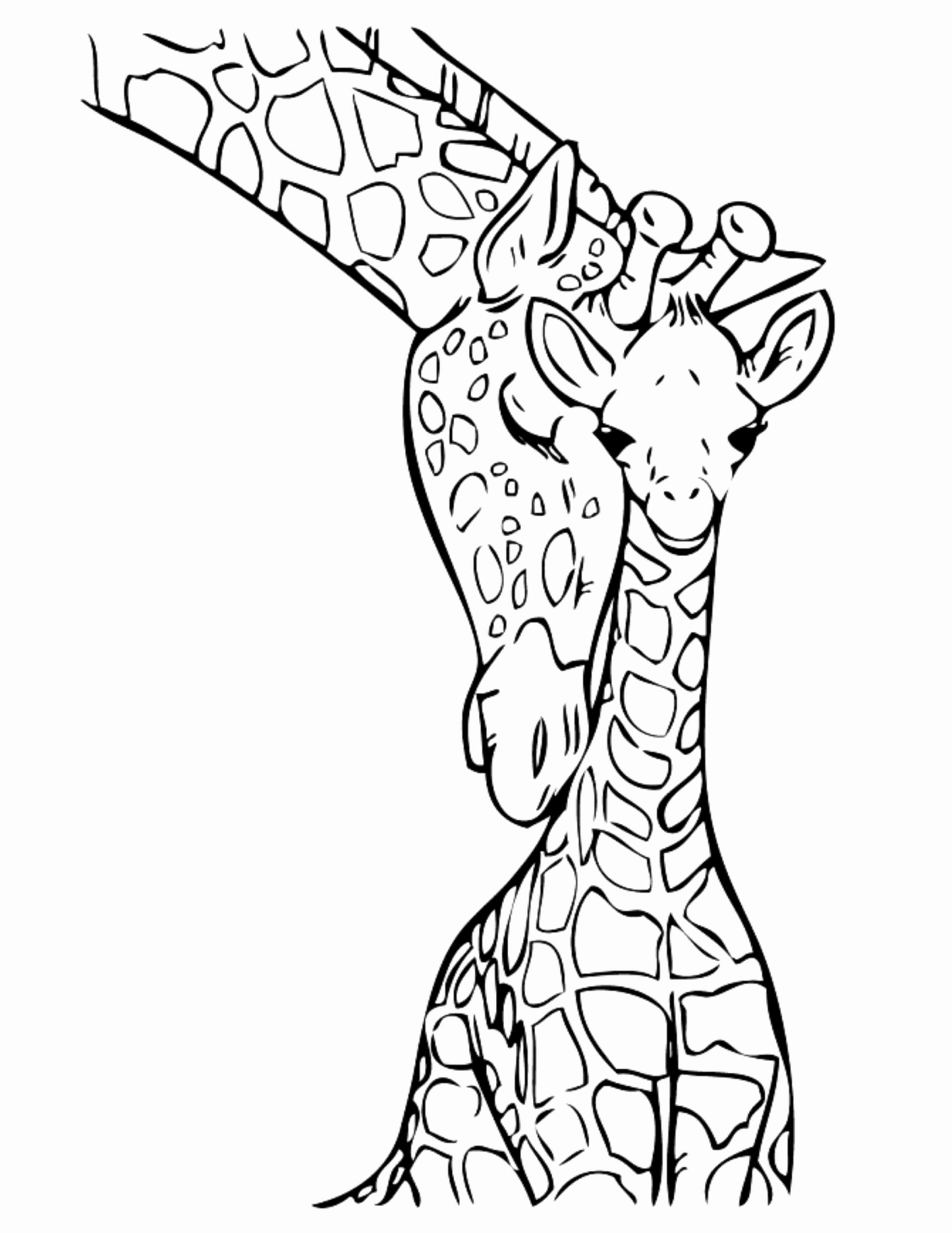 Kids Animal Coloring Pages Free In 2020 Giraffe Coloring Pages Animal Coloring Books Jungle Coloring Pages