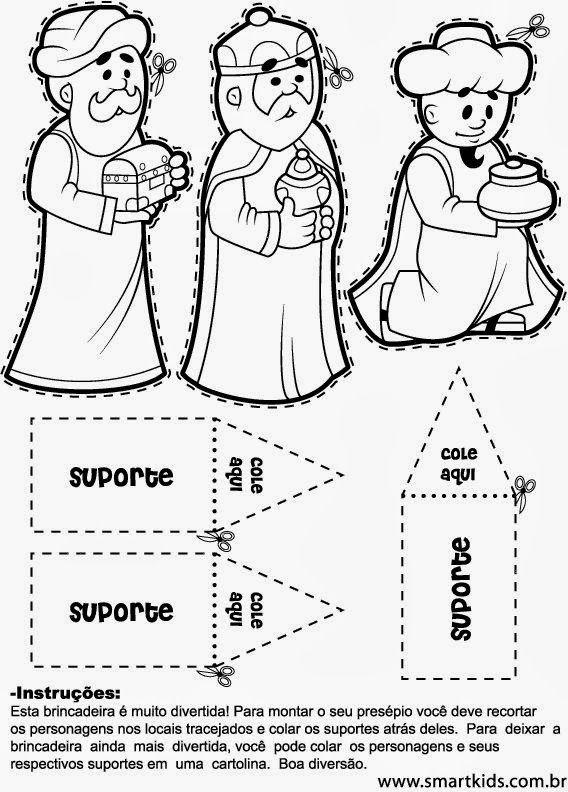 Nacimientos Para Colorear Y Armar Navidad Preescolar Nacimiento Para Colorear Manualidad Reyes Magos