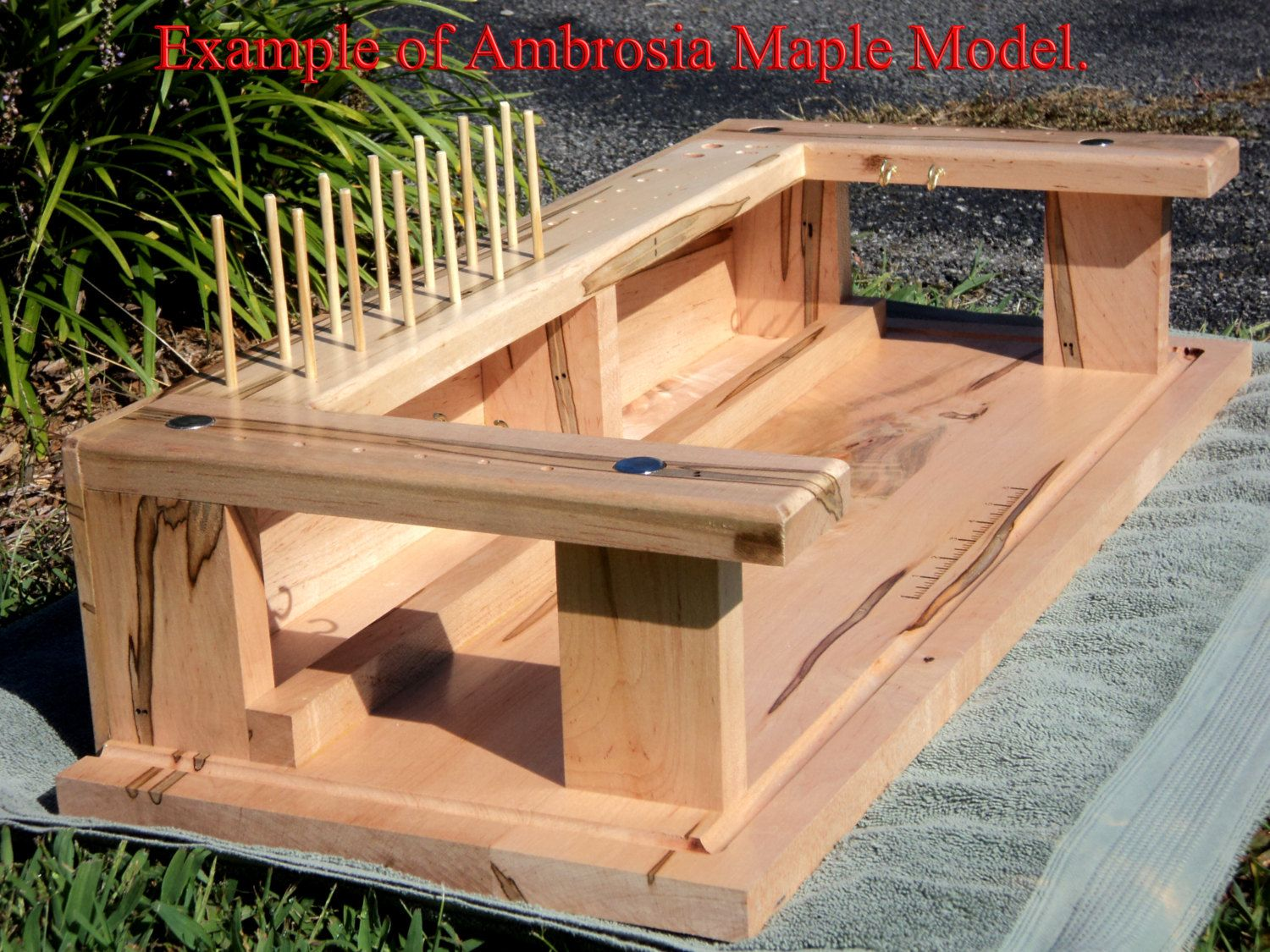 Fly Tying Desks And Benches - Portable handcrafted fly tying table bench desk fly by woodnchips 125 00