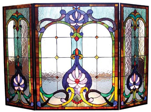 Art+Glass+Fireplace+Screens | Visit our store for more beautiful fireplace screens!
