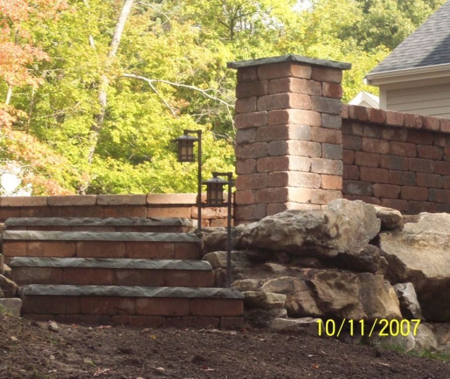 Steps, Pillars, Columns, Bluestone Stair treads and caps, Patio ...