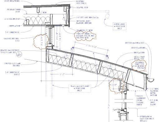 Architectural diagram of skylight remodel clerestory for Section window design